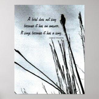 Proverbio chino inspirado póster