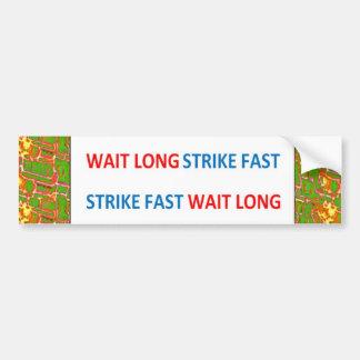 Proverbio chino La huelga larga de la espera ayun Etiqueta De Parachoque