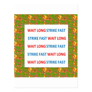 Proverbio chino La huelga larga de la espera ayun Postales