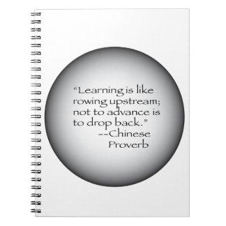 Proverbio chino libro de apuntes