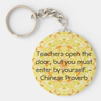 Proverbio chino llavero redondo tipo pin