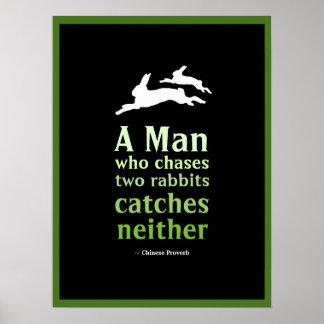 Proverbio chino póster