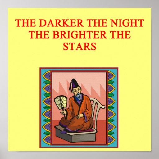 proverbio chino sabio poster