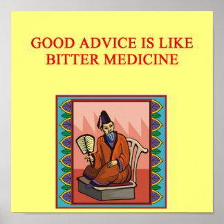 proverbio chino sabio póster