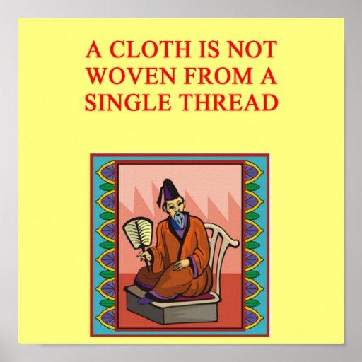 proverbio chino sabio posters