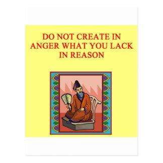 proverbio chino sabio tarjetas postales