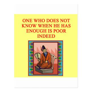 proverbio chino sabio postal
