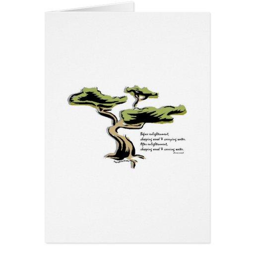 Proverbio chino tarjeta de felicitación