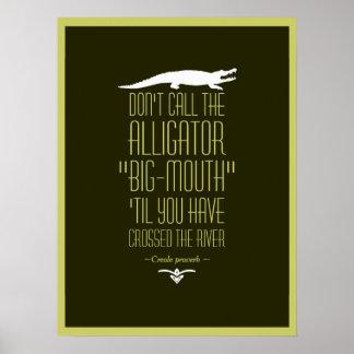 Proverbio criollo póster