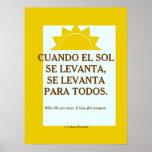Proverbio cubano póster