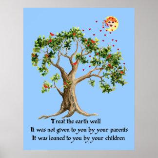 Proverbio de la naturaleza del Kenyan Posters