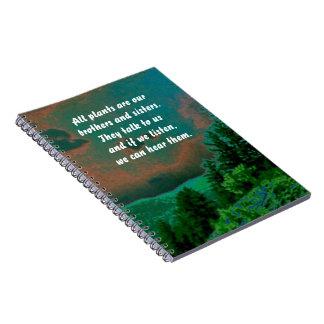 proverbio del arapahoe en la naturaleza libro de apuntes con espiral