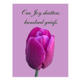 Proverbio del chino de la flor w del tulipán de la postales