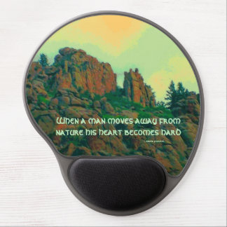 proverbio del lakota del hombre y de la naturaleza alfombrilla de raton con gel
