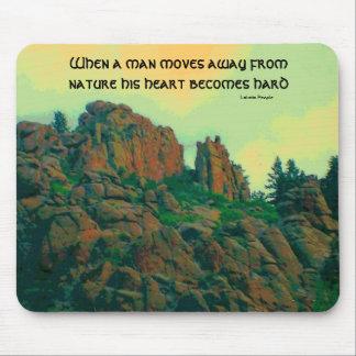 proverbio del lakota del hombre y de la naturaleza mouse pads