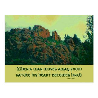 proverbio del lakota del hombre y de la naturaleza tarjetas postales