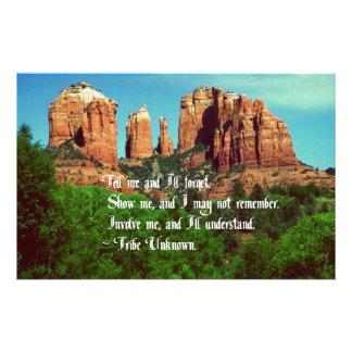 Proverbio del nativo americano papelería personalizada