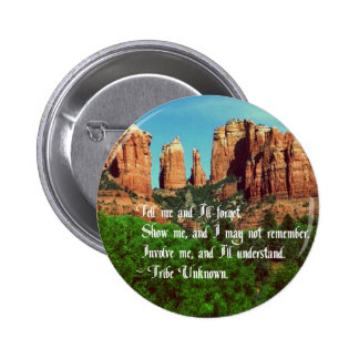 Proverbio del nativo americano pin redondo de 2 pulgadas