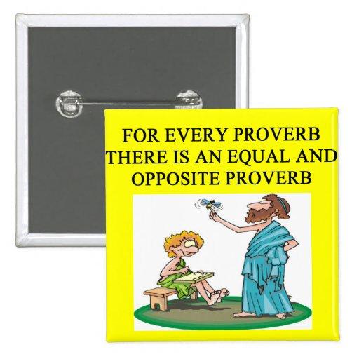 proverbio del proverbio pin