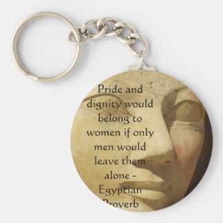 Proverbio egipcio sobre mujeres llavero