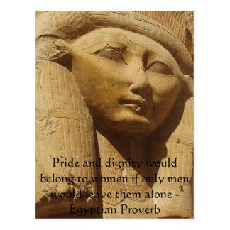 Proverbio egipcio sobre mujeres postal