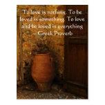 Proverbio griego sobre amor tarjetas postales