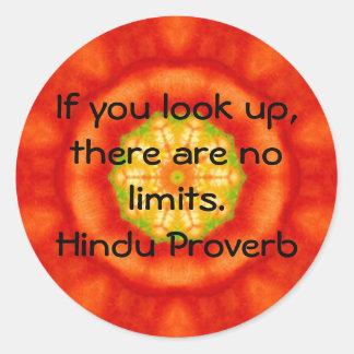 proverbio hindú inspirado de la India Pegatinas Redondas