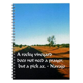 Proverbio indio americano antiguo libro de apuntes con espiral