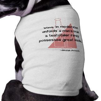 Proverbio judío playera sin mangas para perro
