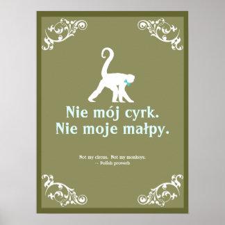Proverbio polaco poster