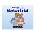 Proverbios 17 17 tarjetas postales