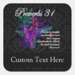 Proverbios 31 mujeres del cristiano de la biblia pegatina cuadrada