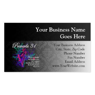 Proverbios 31 mujeres del cristiano de la biblia tarjeta de visita