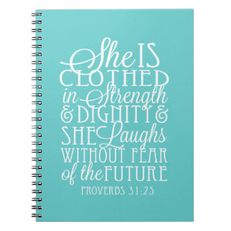 Proverbios 31 regalos - vestidos en fuerza y libretas