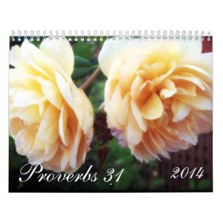 Proverbios 31 calendario de pared