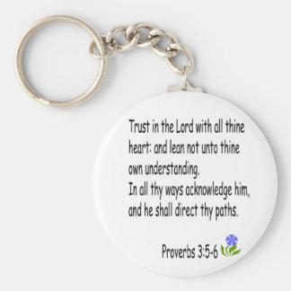Proverbios 3: 5-6 llavero