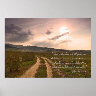 Proverbios 3; 5-6 - Poster inspirado