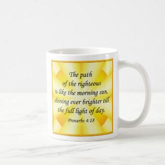 Proverbios A de la taza del verso de la biblia