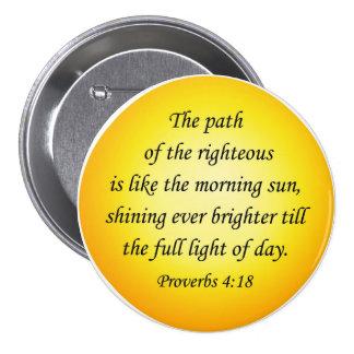 Proverbios A del botón del verso de la biblia Pin