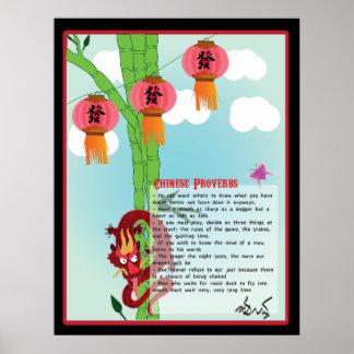 Proverbios chinos póster