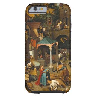 Proverbios de Bruegel Netherlandish Funda De iPhone 6 Tough