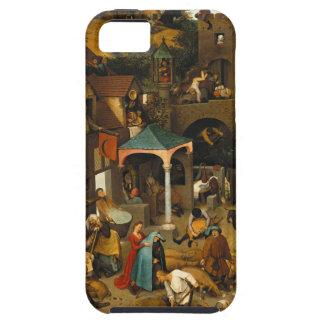 Proverbios de Bruegel Netherlandish iPhone 5 Case-Mate Cárcasa