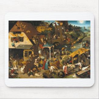 Proverbios de Bruegel Netherlandish Mousepads