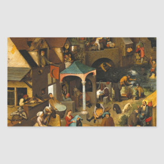 Proverbios de Bruegel Netherlandish Rectangular Pegatinas