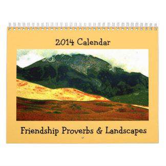 proverbios de la amistad con arte del paisaje calendarios de pared