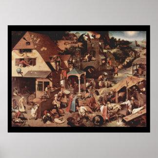 Proverbios de Netherland - 1559 Posters