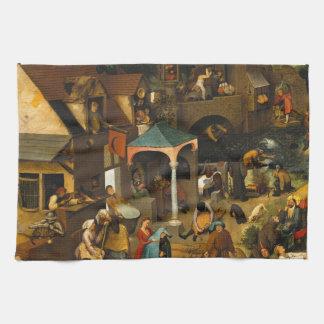 Proverbios de Netherlandish de Pieter Bruegel la Toallas De Mano