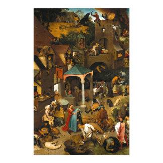 Proverbios de Netherlandish de Pieter Bruegel la Papelería Personalizada