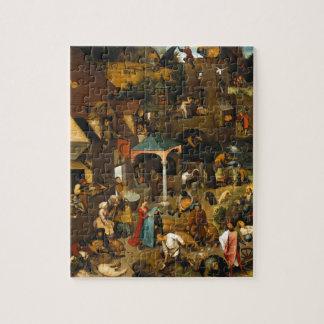Proverbios de Netherlandish de Pieter Bruegel la Puzzle Con Fotos