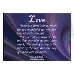 Proverbios del amor 30-18 felicitación